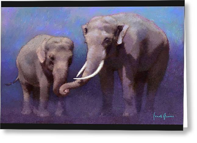 Impressionist Greeting Cards - Family Bond Greeting Card by Frank Bonnici