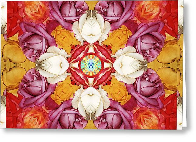 Rose Petal Heart Greeting Cards - Family Jewels Greeting Card by Bell And Todd