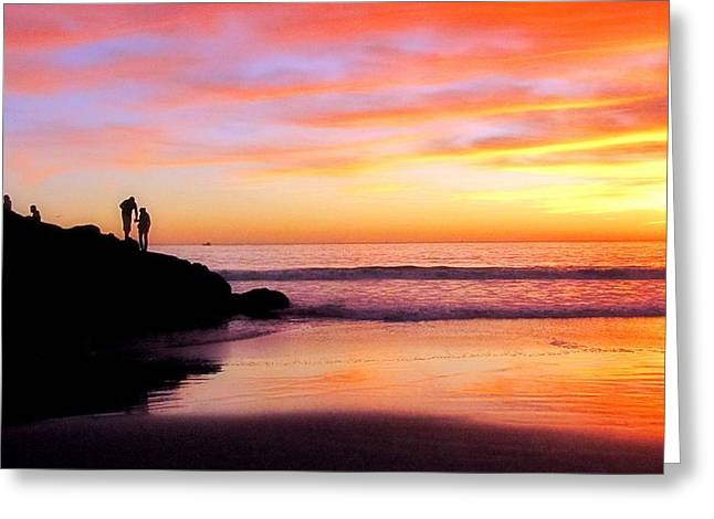 Ocean Vista Greeting Cards - Family Greeting Card by Kieoh AB Cazden