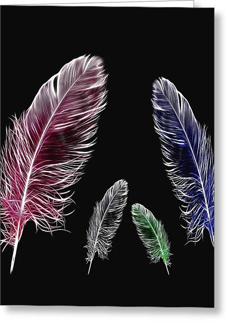 Feather Pen Greeting Cards - Family Greeting Card by Manfred Lutzius