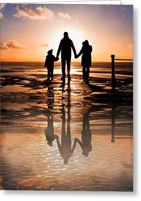 Family Reflections Greeting Card by Tom Gowanlock