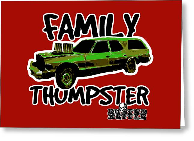 Family Thumpster Greeting Card by George Randolph Miller