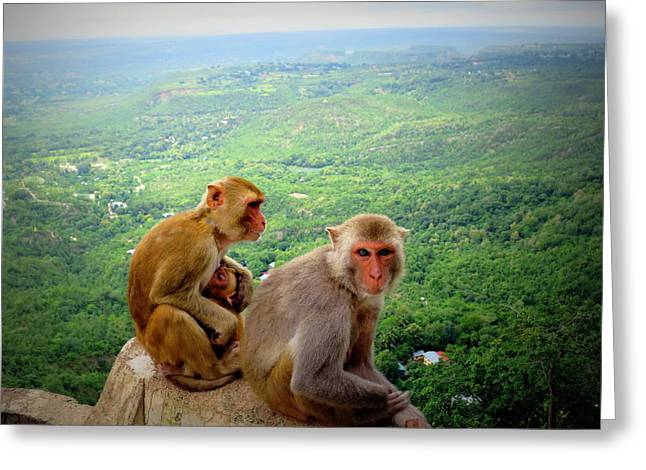 Mount Popa Greeting Cards - Family Time Greeting Card by Scott Brindle