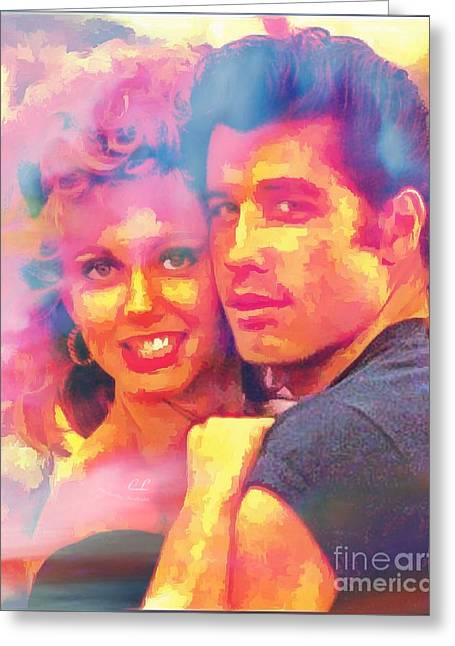 Print On Canvas Greeting Cards - Famous Faces Greeting Card by Catherine Lott