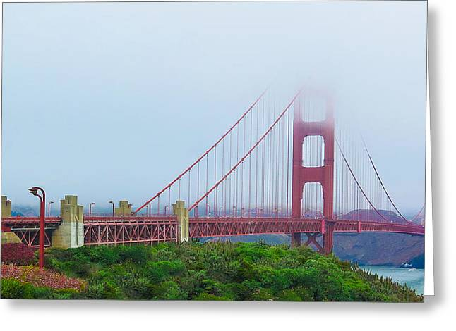 Original Art Photographs Greeting Cards - Famous Golden Gate Greeting Card by Sharon Yanai