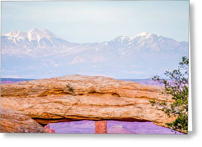 The Plateaus Greeting Cards - famous Mesa Arch in Canyonlands National Park Utah  USA Greeting Card by Alexandr Grichenko