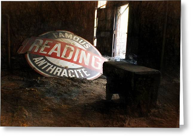 Anthracite Greeting Cards - Famous Reading Anthracite Greeting Card by Lori Deiter