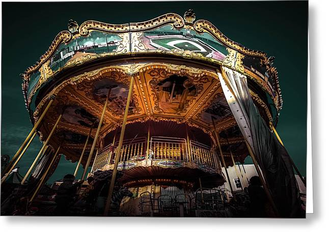 Michelle Greeting Cards - Fancy Carousel Greeting Card by Michelle Saraswati