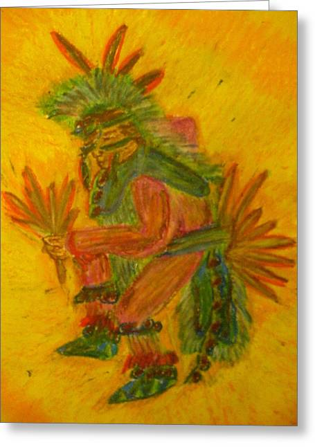 Sociology Mixed Media Greeting Cards - Fancy Dancer Greeting Card by Austen Brauker
