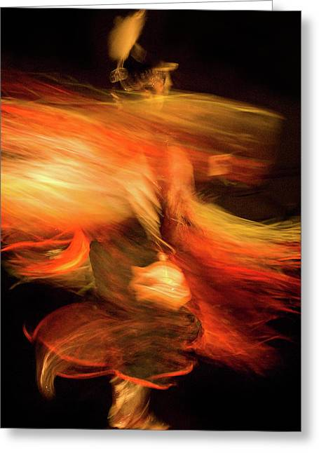 Fancy-dancer Greeting Cards - Fancy Dancer Greeting Card by Jeremiah Armstrong