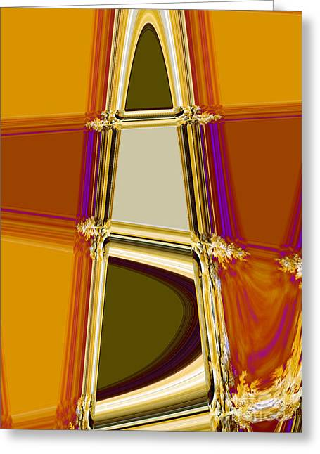 Abstract Digital Photographs Greeting Cards - Fancy Fir Greeting Card by Norman  Andrus