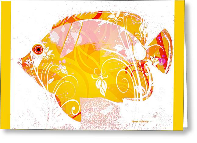 Aquatic Greeting Cards - Fancy Fish Photomontage Greeting Card by Sharon K Shubert
