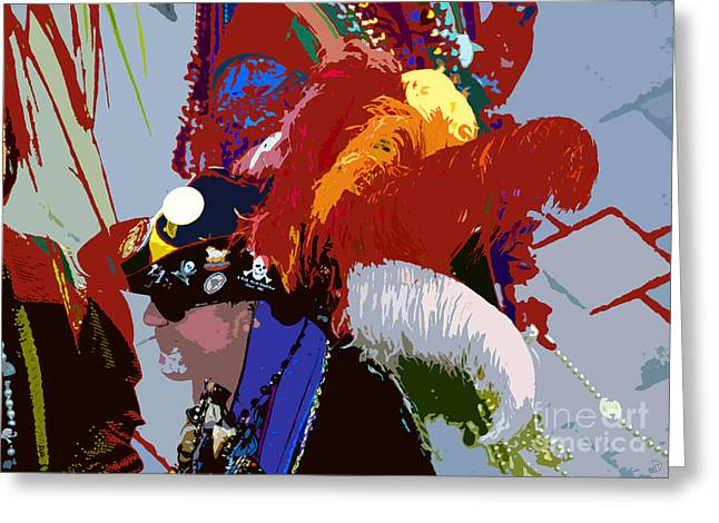 Pirates Digital Greeting Cards - Fancy pirate Greeting Card by David Lee Thompson