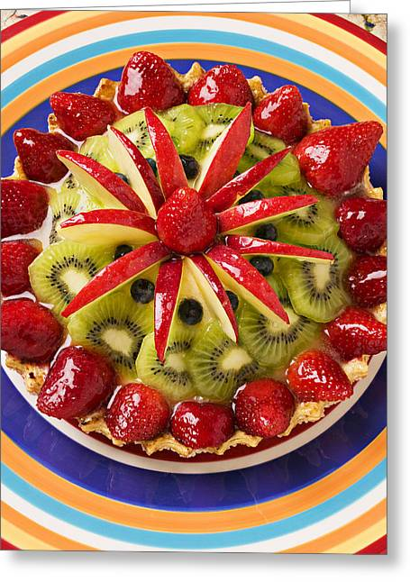 Topping Greeting Cards - Fancy tart pie Greeting Card by Garry Gay
