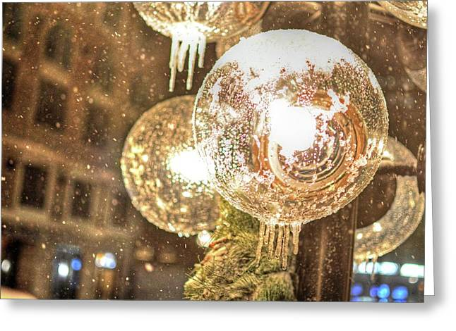 Faneuil Hall Greeting Cards - Faneuil Hall lollypop light icicles Boston MA Greeting Card by Toby McGuire