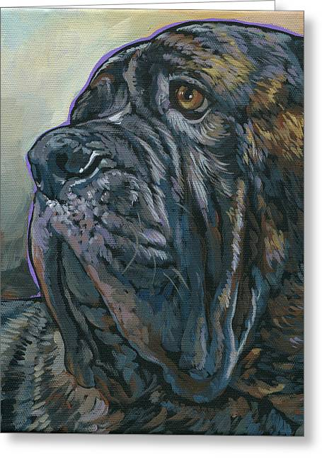 English Mastiff Greeting Cards - Fang Greeting Card by Nadi Spencer