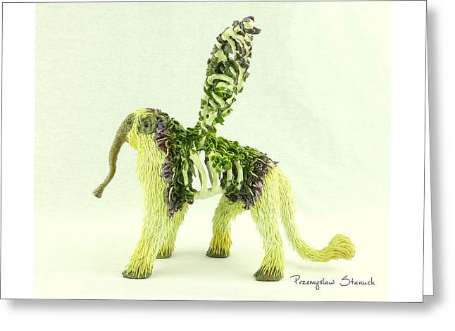 Fangorus Polymer Clay Fantasy Sculpture Greeting Card by Przemyslaw Stanuch