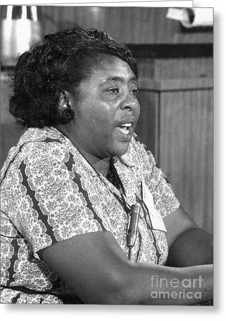 Civil Rights Activists Greeting Cards - Fannie Lou Hamer (1917-1977) Greeting Card by Granger