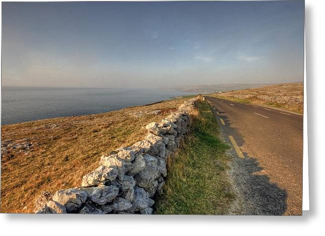 Fanore Road Greeting Card by John Quinn