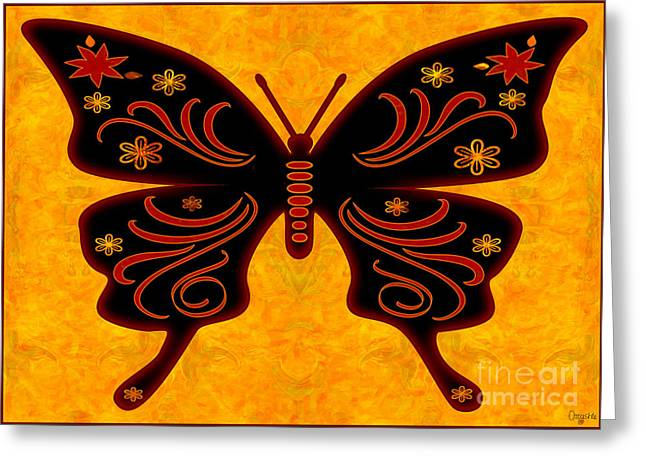 Star Glass Art Greeting Cards - Fantasies Of Light Abstract Bliss Butterflies by Omashte Greeting Card by Omaste Witkowski
