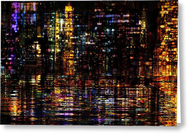 Urban Images Greeting Cards - Fantastic Evening  Greeting Card by Kiki Art