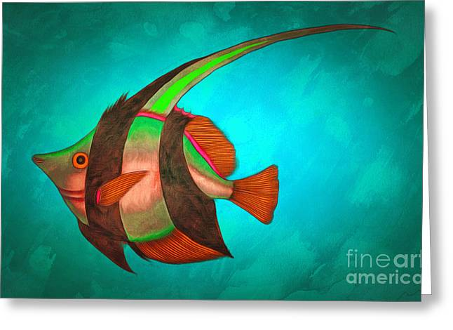 Best Ocean Photography Paintings Greeting Cards - Fantastic fish Bezaan Greeting Card by Sergey Lukashin