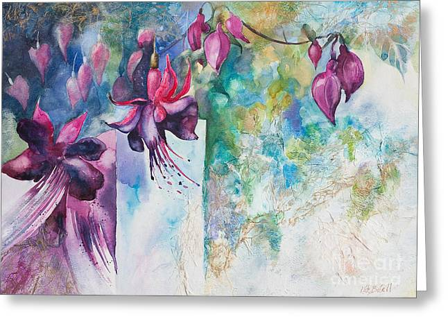 Kate Bedell Greeting Cards - Fantasy Fuchsia Greeting Card by Kate Bedell
