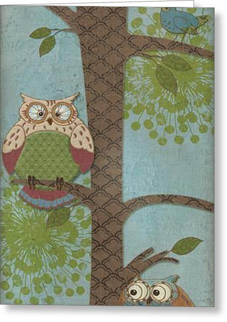 Fantasy Owls - Vertical II Greeting Card by Paul Brent