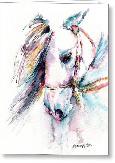 Horses Art Print Greeting Cards - Fantasy Greeting Card by Stephie Butler