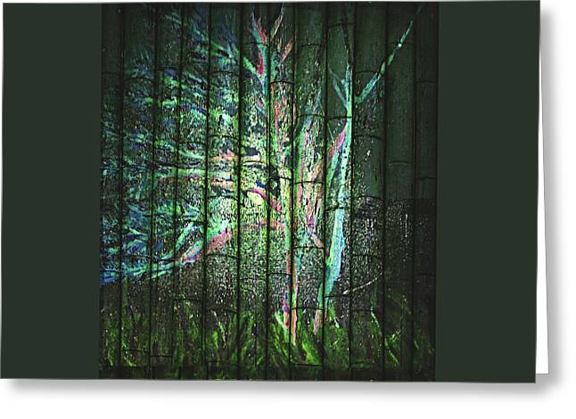 Bare Trees Mixed Media Greeting Cards - Fantasy Tree On Bamboo Greeting Card by ARTography by Pamela  Smale Williams