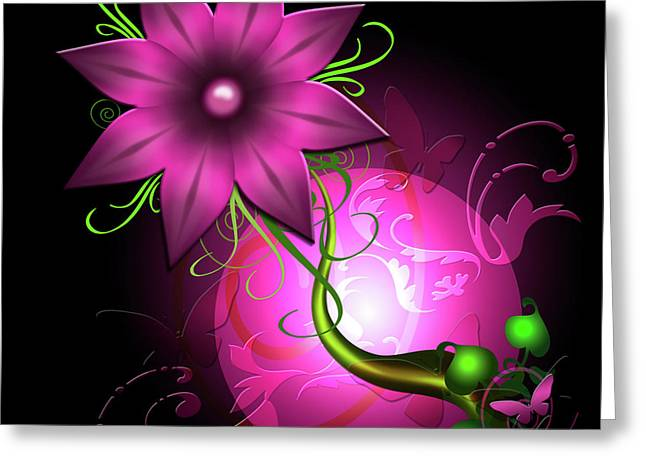 Karlajkitty Digital Art Greeting Cards - Fantasy World Greeting Card by Karla White