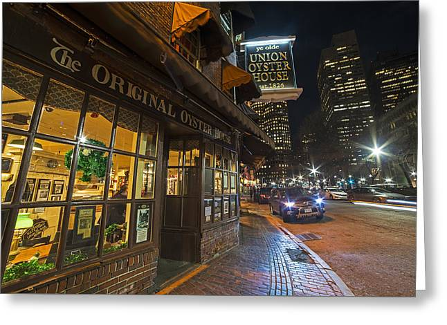 Fanueil Hall Union Oyster House Boston Ma Greeting Card by Toby McGuire