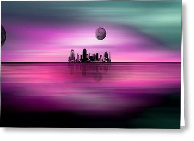 White Cloth Greeting Cards - Far Away Dream Scapes Very Large Prints Possible 108 Inches Greeting Card by Sir Josef Putsche