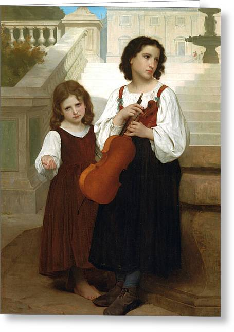 Williams Sisters Greeting Cards - Far country Greeting Card by Adolphe William Bouguereau