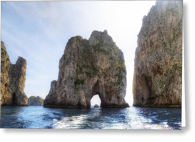 Naples Greeting Cards - Faraglioni - Capri Greeting Card by Joana Kruse