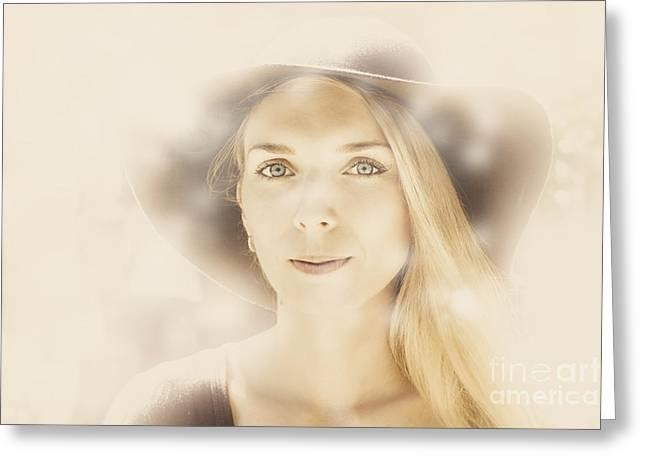 Faraway Fashion Female Greeting Card by Jorgo Photography - Wall Art Gallery