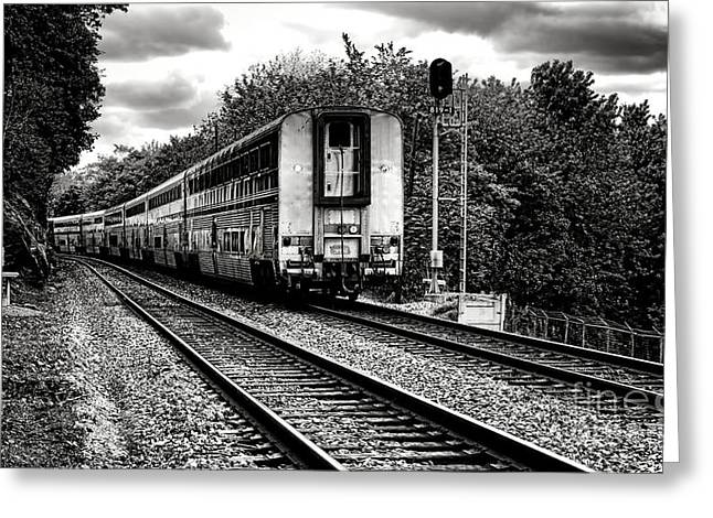 Journeys End Greeting Cards - Farewell Traveler  Greeting Card by Olivier Le Queinec