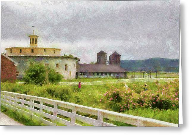 Farm - Barn - Farming is hard work Greeting Card by Mike Savad
