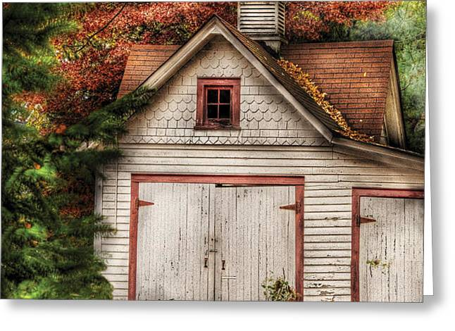 Farm - Barn - Our old shed Greeting Card by Mike Savad