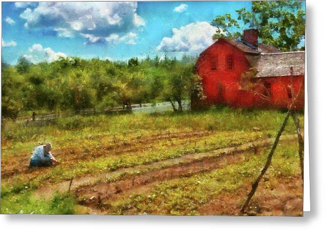 Field Workers Greeting Cards - Farm - Farmer - Farm Work  Greeting Card by Mike Savad