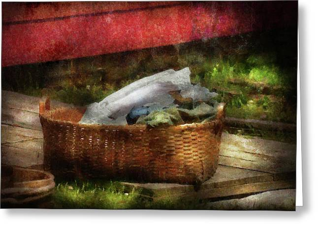 Customizable Greeting Cards - Farm - Laundry  Greeting Card by Mike Savad