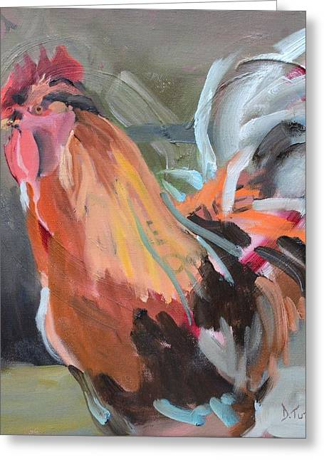 House Pet Greeting Cards - Farm Alarm Greeting Card by Donna Tuten