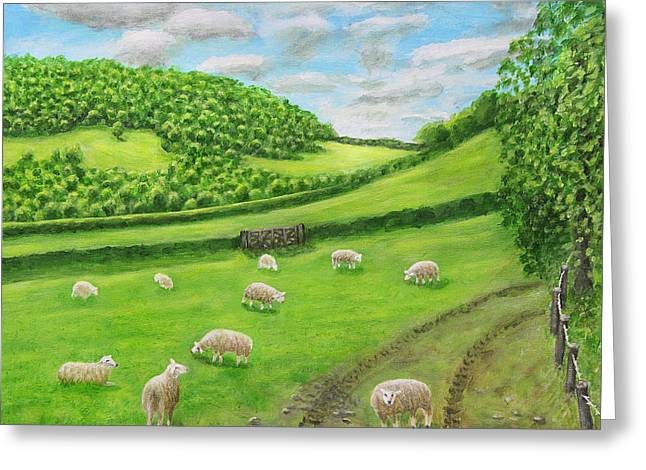 Fields Greeting Cards - Farm At Craven Arms Greeting Card by Ronald Haber