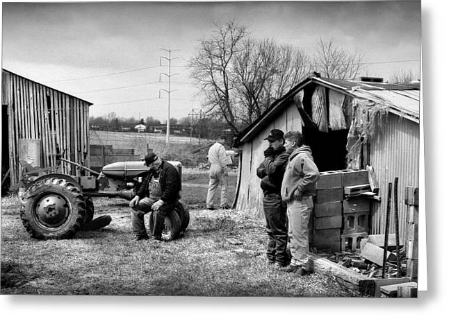 Rural Indiana Photographs Greeting Cards - Farm Auction Greeting Card by Todd Fox