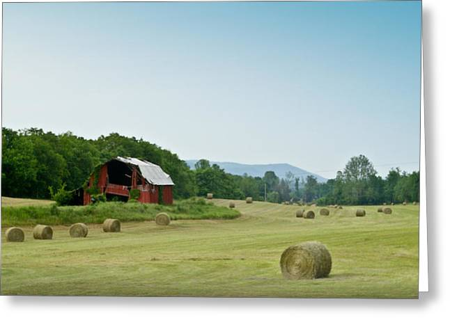 Tennessee Farm Greeting Cards - Farm Barn Listing Greeting Card by Douglas Barnett