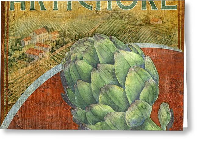 Artichoke Greeting Cards - Farm Fresh Artichoke Greeting Card by Paul Brent