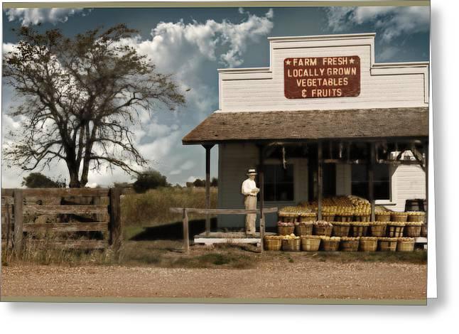 Farm Stand Greeting Cards - Farm Fresh Greeting Card by John Anderson