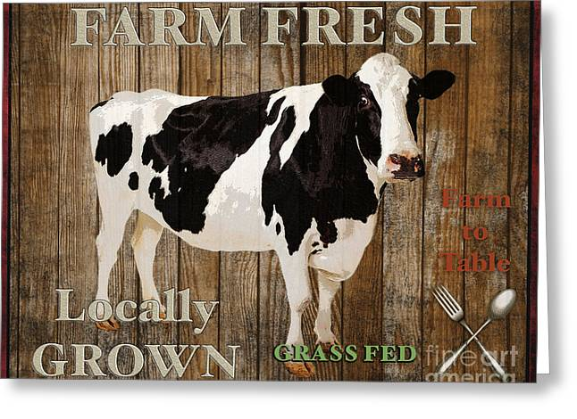 Lettuce Digital Greeting Cards - Farm Fresh-JP2128 Greeting Card by Jean Plout