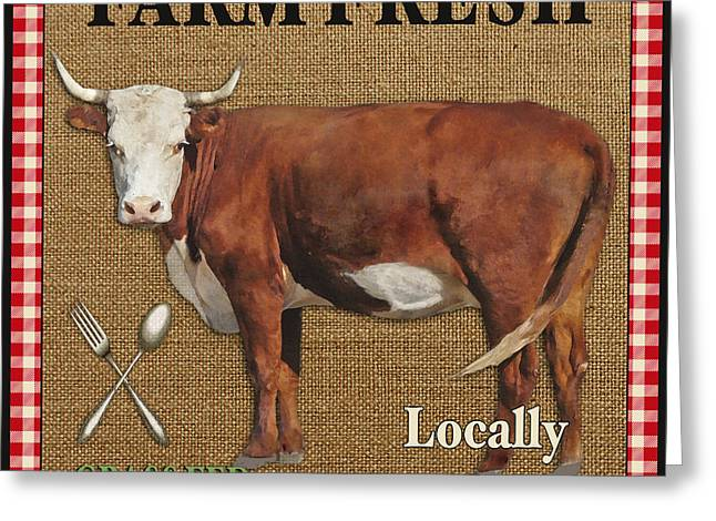 Locally Grown Digital Art Greeting Cards - Farm Fresh-JP2383 Greeting Card by Jean Plout