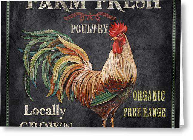 Locally Grown Digital Art Greeting Cards - Farm Fresh-JP2634 Greeting Card by Jean Plout